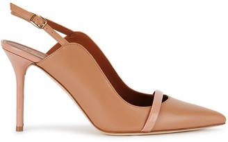 Malone Souliers Marion 85 Camel Leather Pumps