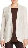 Eileen Fisher Open Front Oval Cardigan