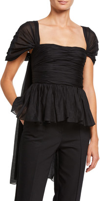 Brock Collection Ruched Fit & Flare Shirt