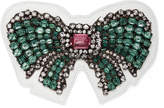 Gucci Ace crystal bow patch