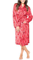 Asstd National Brand Red Fairisle Family Pajama Robe- Women's