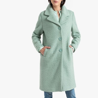 Anne Weyburn Wool Mix Single-Breasted Coat with Pockets