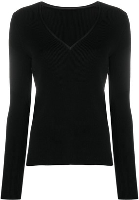 Pinko V-neck rib knit jumper