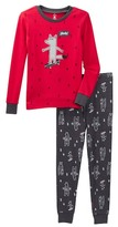Petit Lem Yeah! Wolf Long Sleeve Pajama Set (Toddler & Little Boys)