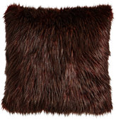 Sabira Wild Ostrich Faux-Fur Pillow