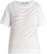 adidas by Stella McCartney Back-drawstring jersey T-shirt
