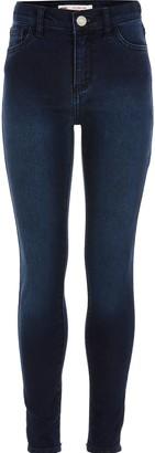 Levi's River Island Girls dark Blue super skinny jeans