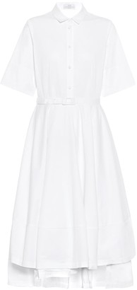 Co Cotton-sateen shirt dress