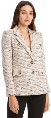 Karl Lagerfeld Paris Notch Lapel Tweed Jacket