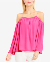 Vince Camuto Cold-Shoulder Peasant Top