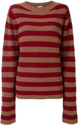 Lhd Horizontal Stripe Knit Jumper