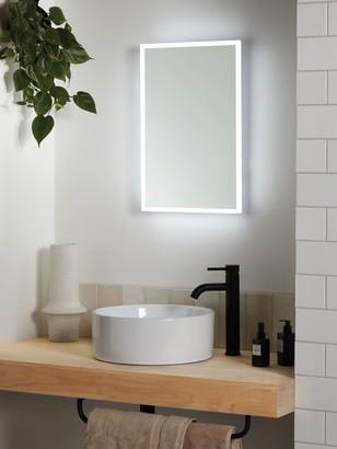 John Lewis & Partners Aura Wall Mounted Illuminated Bathroom Mirror, Small
