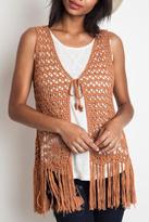 Umgee USA Crochet Fringe Vest