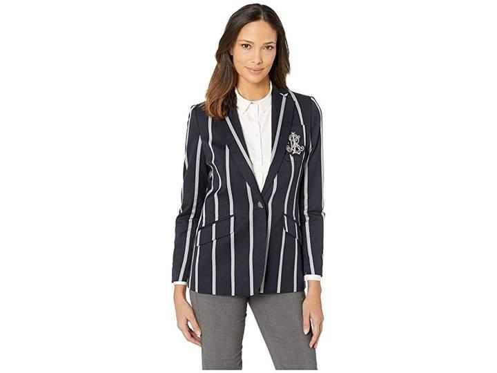 Lauren Ralph Lauren Cricket-Stripe Crest Blazer