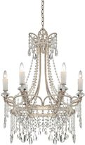 Quoizel Tricia Ceiling-Mount Chandelier in Vintage Silver