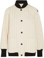 Marni Quilted Cotton-blend Bomber Jacket - White
