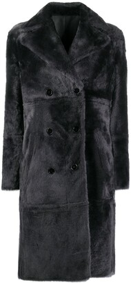 Yves Salomon Fitted Double-Breasted Coat