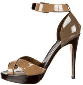 Brian Atwood Color Block Patent Leather Sandals