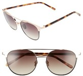 Linda Farrow Women's 54Mm Rose Gold Plated Aviator Sunglasses - Rose Gold W Black Rim/ Brown