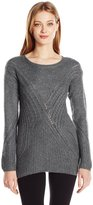 GUESS Women's Long Sleeve Patch Work Sweater