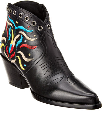 Christian Dior L.A. Embroidered Leather Bootie