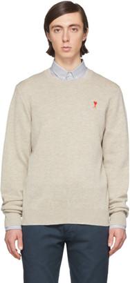 Ami Alexandre Mattiussi Off-White Merino Ami De Coeur Sweater