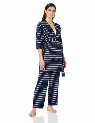 Everly Grey Women's 5 Piece Maternity and Nursing PJ Pant Set for Mom and Baby