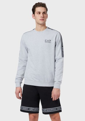 Ea7 Long-Sleeved T-Shirt With Logo Bands