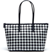 Lacoste Women's Concept Houndstooth Horizontal Zip Tote Bag