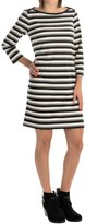 Specially made Striped Rayon-Blend Dress - 3/4 Sleeve (For Women)