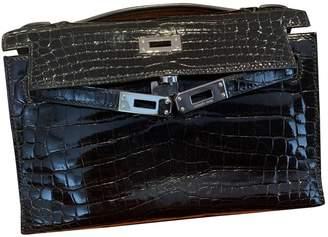 Hermã ̈S HermAs Kelly Clutch Black Crocodile Clutch bags