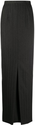 Gianfranco Ferré Pre Owned 1990s Pinstriped Maxi Skirt