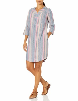 Foxcroft Women's Harmony Petite Beachcomber Stripe Dress