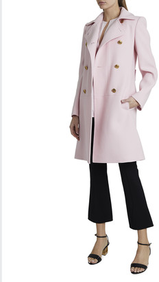 Givenchy Double-Breasted Wool Martingale Coat