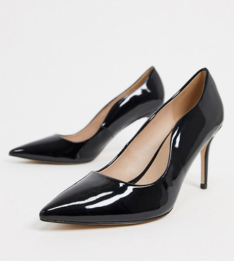 Miss KG wide-fit corinthia heeled court shoes in black
