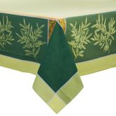 Sur La Table Olive Green Jacquard Tablecloth