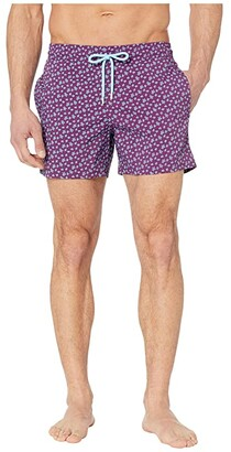 Vilebrequin Moorise Micro Turtles Superflex Swim Trunks (Kerala) Men's Swimwear