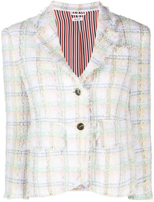 Thom Browne Check-Print Tweed Jacket