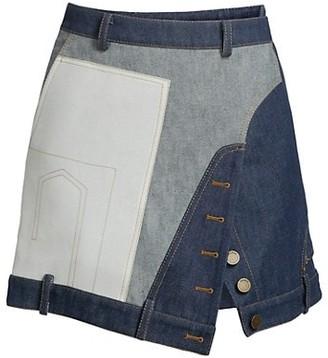 Monse Upside Down Denim Mini Skirt