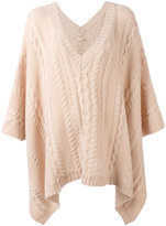 Agnona cable knit poncho - women - Cashmere - One Size