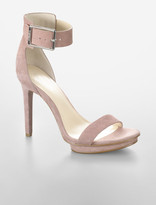 Calvin Klein Vivian Suede Logo Strap Platform Sandal