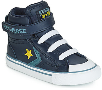 Converse PRO BLAZE STRAP LEATHER HI girls's Shoes (High-top Trainers) in Blue