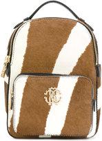 Roberto Cavalli zebra print calf hair mini backpack - women - Leather/Calf Hair - One Size