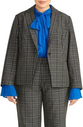 Rachel Roy Collection Check Blazer