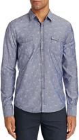 BOSS ORANGE EdoslimE Floral Chambray Slim Fit Button-Down Shirt