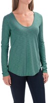 Lilla P Slub V-Neck Shirt - Long Sleeve (For Women)