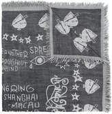 Givenchy frayed printed scarf