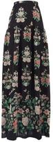 Giambattista Valli Floral-print Chiffon Maxi Skirt - Womens - Black Multi