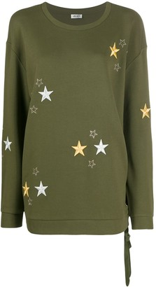 Liu Jo Star-Details Lace-Side Sweatshirt