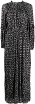 Etoile Isabel Marant Abstract Print Maxi Dress